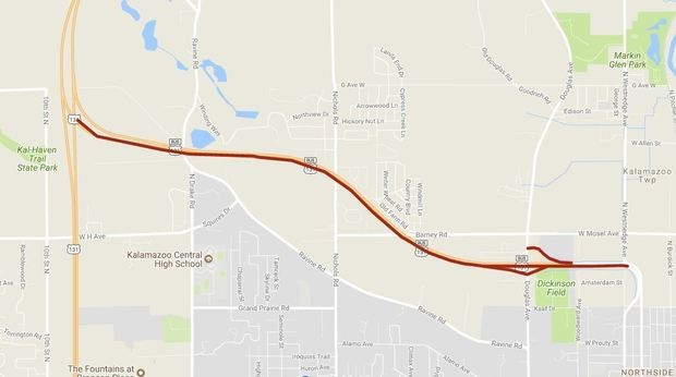 US Business Route Lane Closures Ziggys Auto Sales - Us 131 map